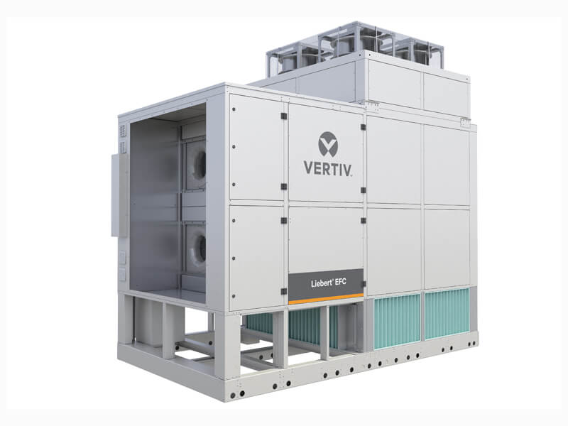 Full view of the Liebert EFC - a Vertiv evaporative free cooling solution