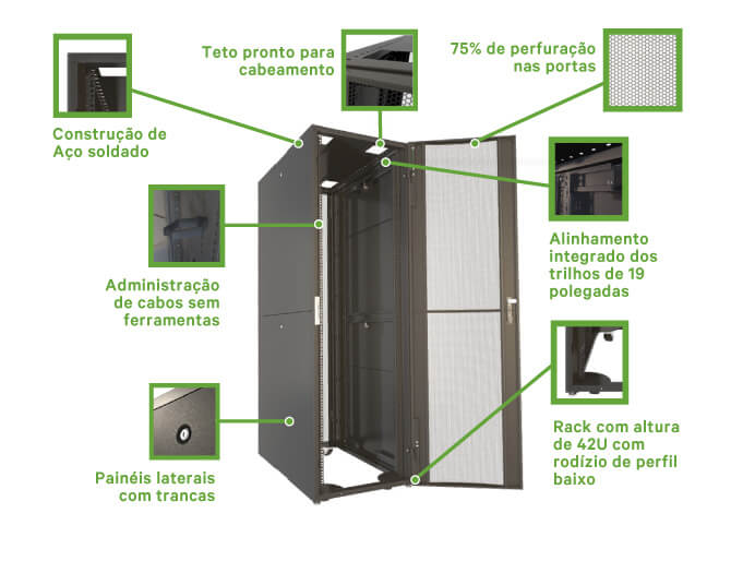 DCF Sistema de rack otimizado - Vertiv IT Racks
