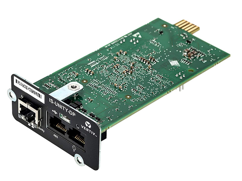 full view of the liebert is-unity-dp communications card