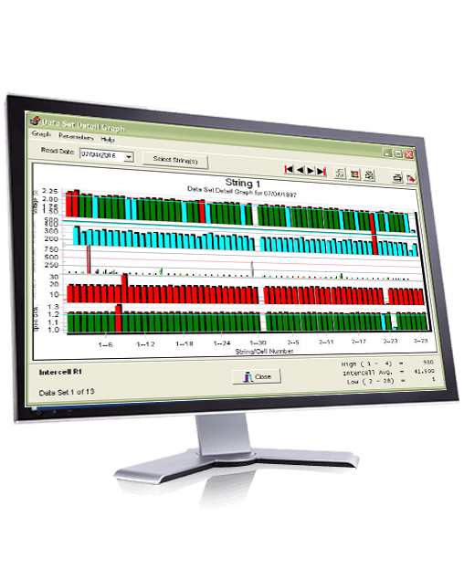 Alber Battery Testing : Albér battery analysis software bas monitorinig