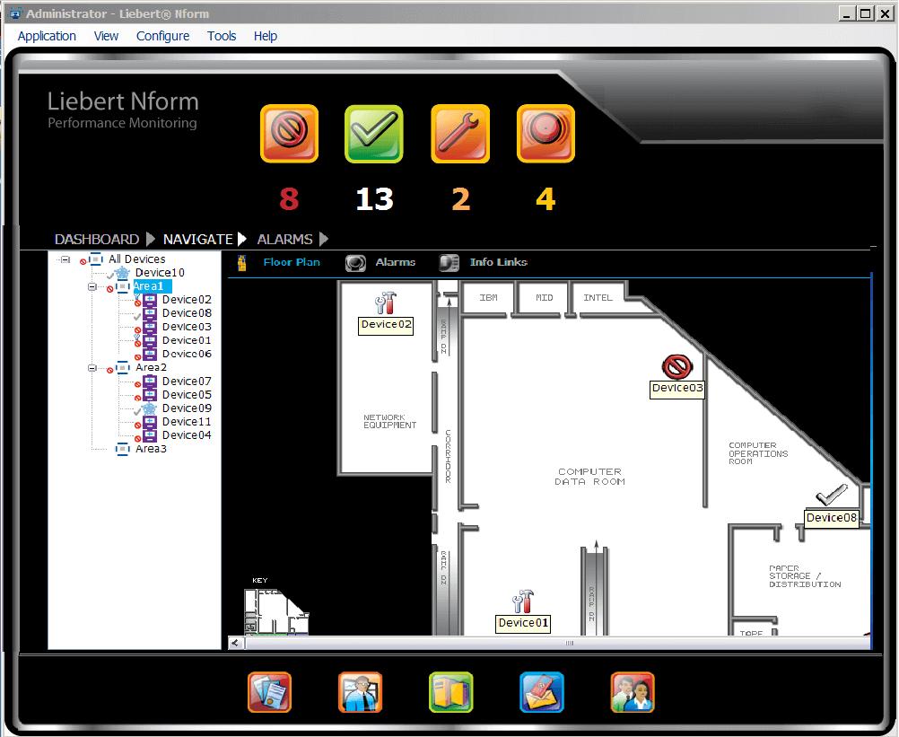 liebert nform centralized monitoring software